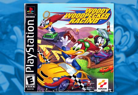 PSX PlayStation Woody Woodpecker Racing