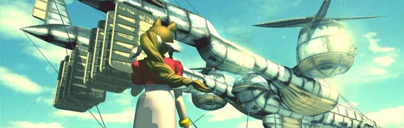 PSX Final Fantasy VII Aerith with the Airship
