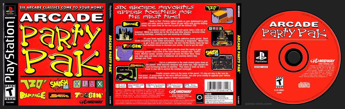 PSX PlayStation Arcade Party Pak Black Label Retail Release