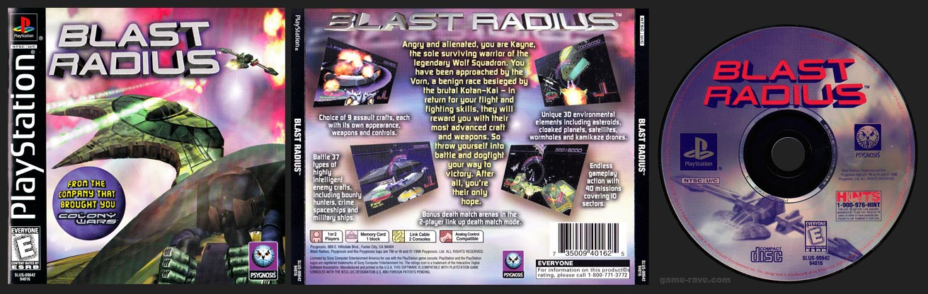 PSX PlayStation Blast Radius Black Label Retail Release