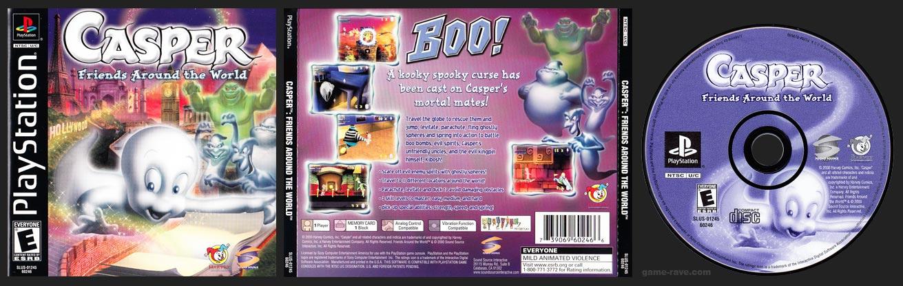 PSX PlayStation Casper: Friends Around The World Black Label Retail Release