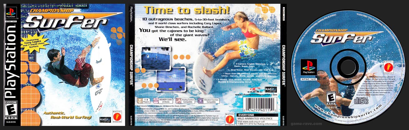 PSX PlayStation Championship Surfer Black Label Retail Release