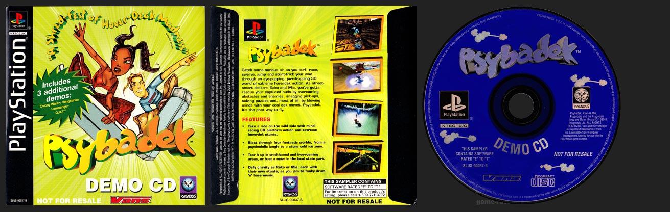 PSX PlayStation Demo Psybadek Demo