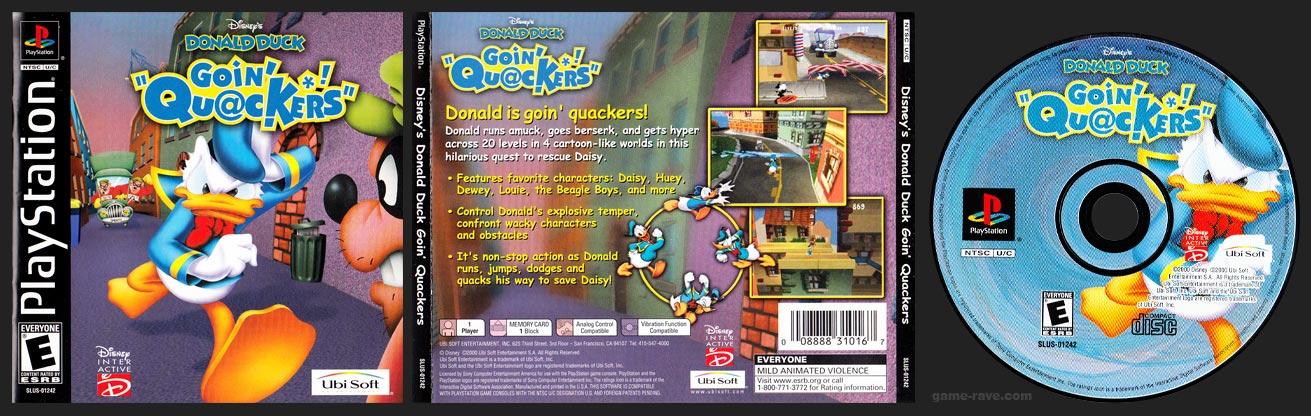 PSX PlayStation Disney's Donald Duck Goin' Quackers Black Label Retail Release