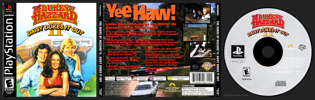 PSX PlayStation The Dukes of Hazzard II: Daisy Dukes It Out Black Label Retail Release