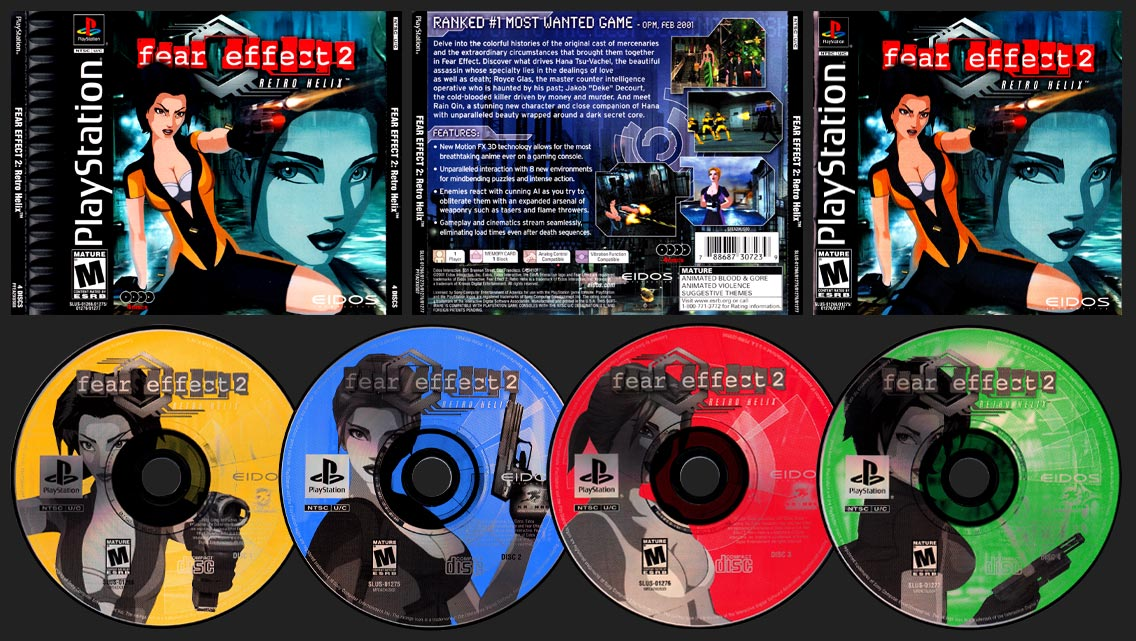 PSX PlayStation Fear Effect 2: Retro Helix Black Label Retail Release