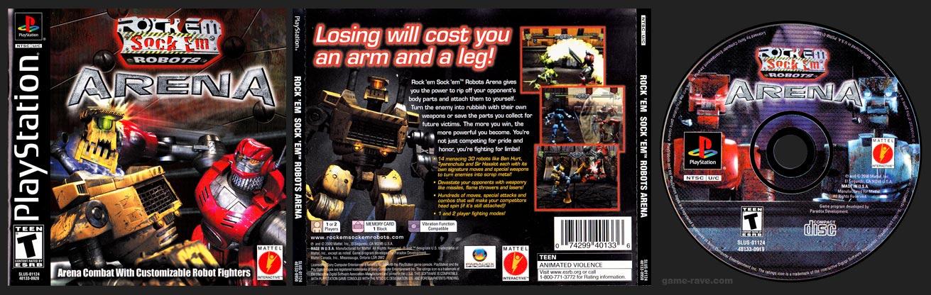 PSX PlayStation Rock'em Sock 'em Robots Arena Black Label Retail Release