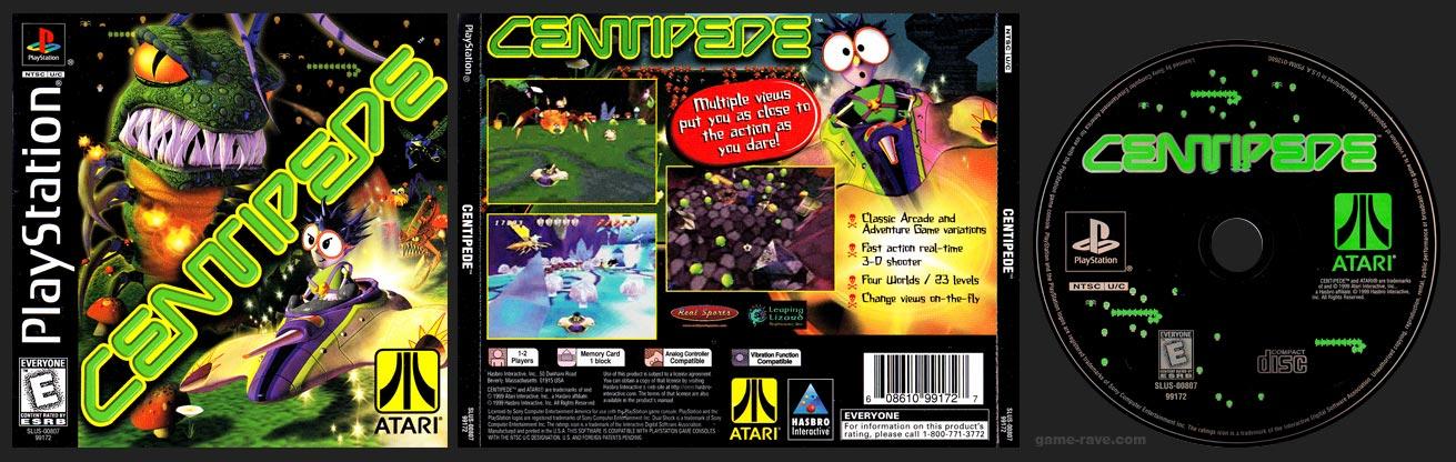 PSX PlayStation Centipede Black Label Retail Release