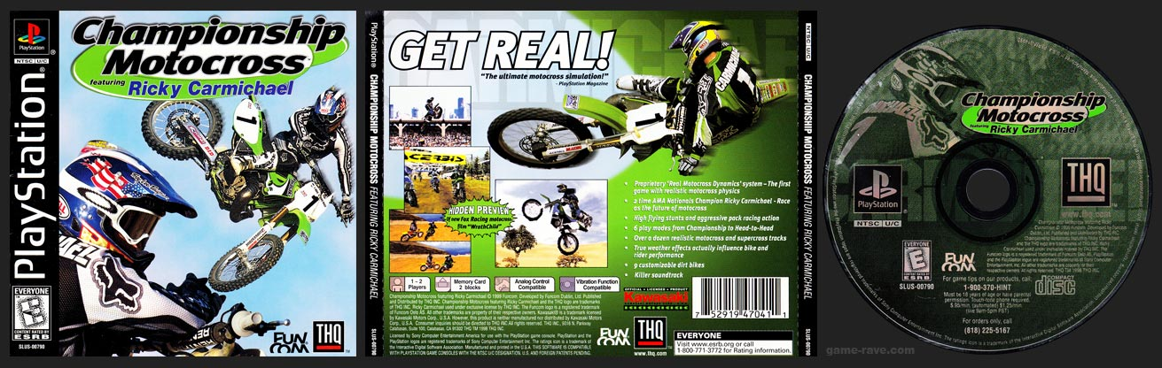 PSX PlayStation Championship Motocross Featuring Ricky Carmichael