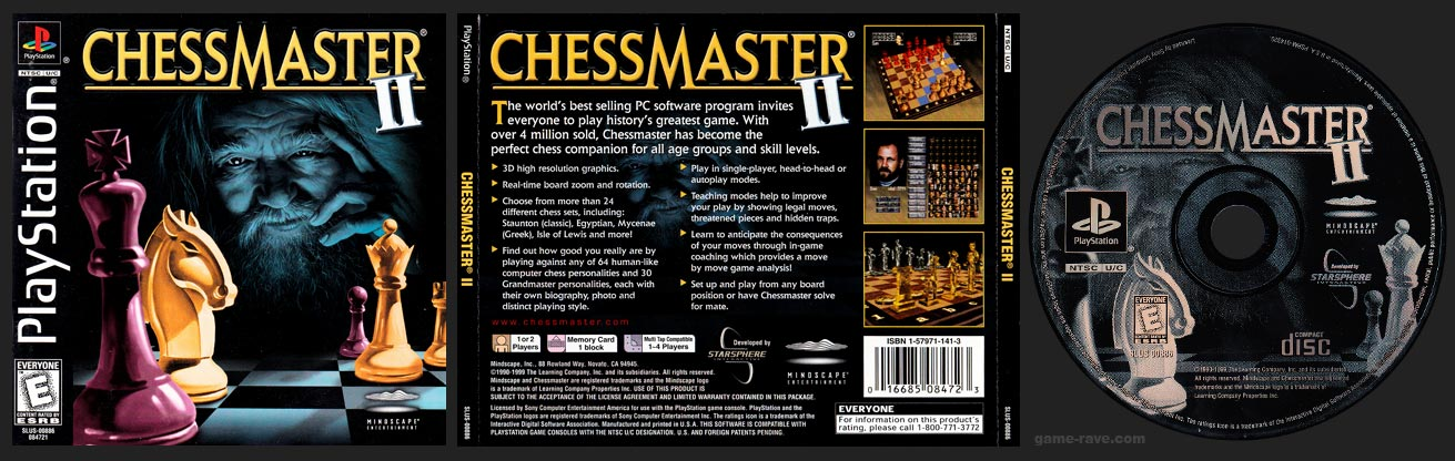 PSX PlayStation Chessmaster II Black Label Retail Release