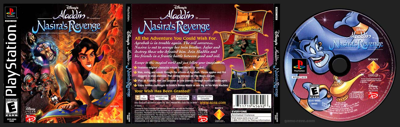PSX PlayStation Disney's Aladdin in Nasira's Revenge Black Label Retail Release