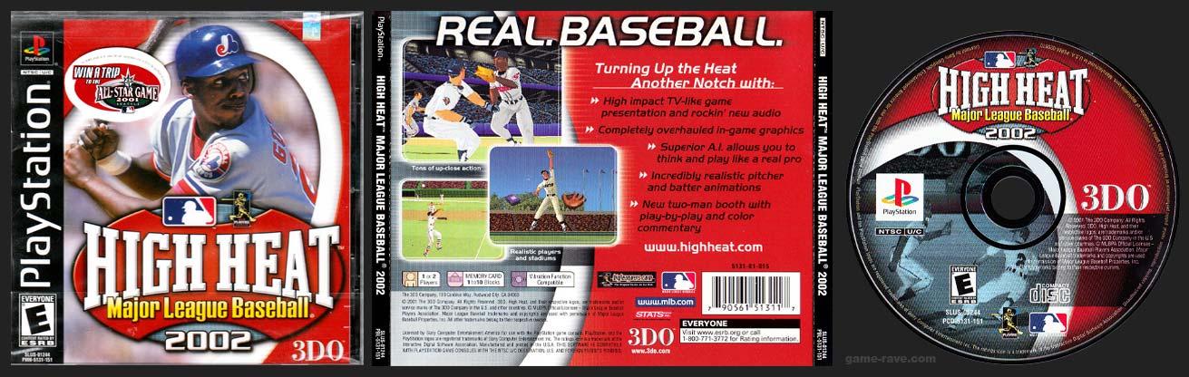 PSX PlayStation High Heat Major League Baseball 2002 Black Label Retail Release