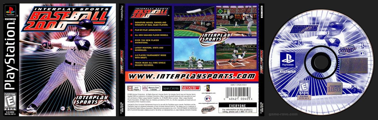 PSX PlayStation Interplay Baseball 2000 Black Label Retail Release