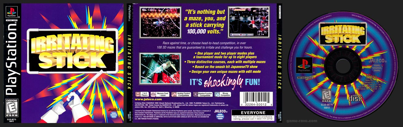 PSX PlayStation Irritating Stick Black Label Retail Release