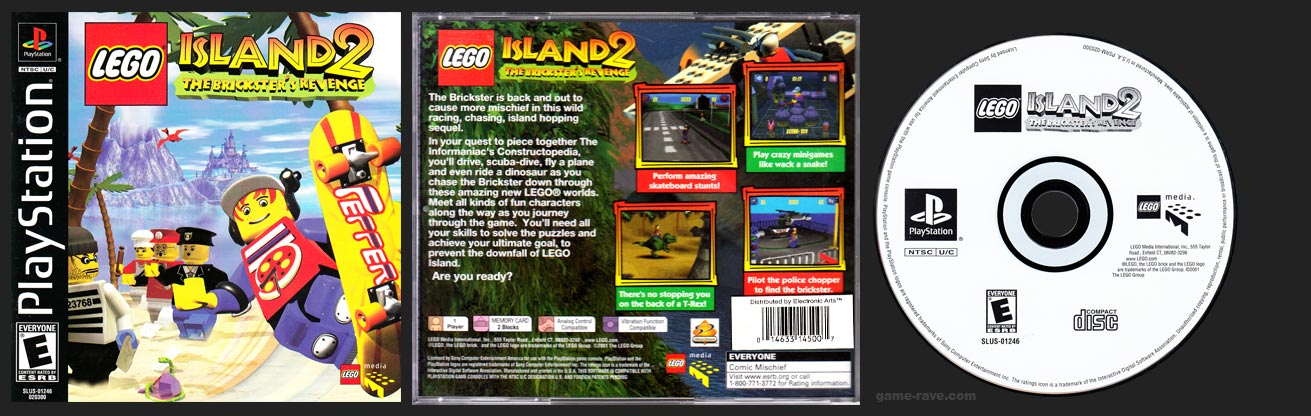 PSX PlayStation Lego Island 2 The Brickter's Revenge Electronic Arts Distributed Version