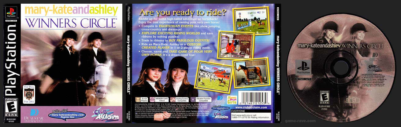 PSX PlayStation Mary-Kate and Ashley Winners Circle Black Label Retail Release
