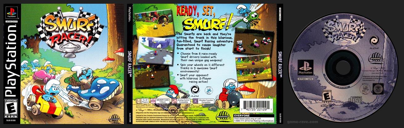 PSX PlayStation Smurf Racer Black Label Retail Release