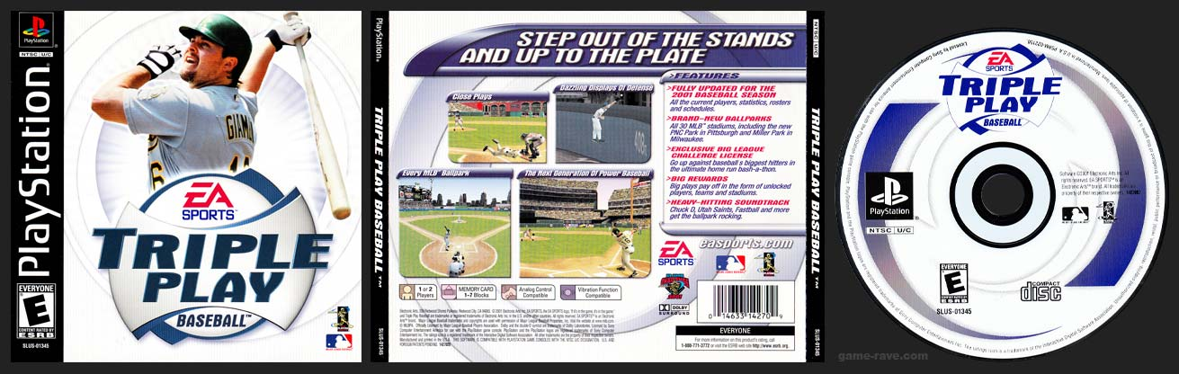 PSX PlayStation Triple Play Baseball (2001)