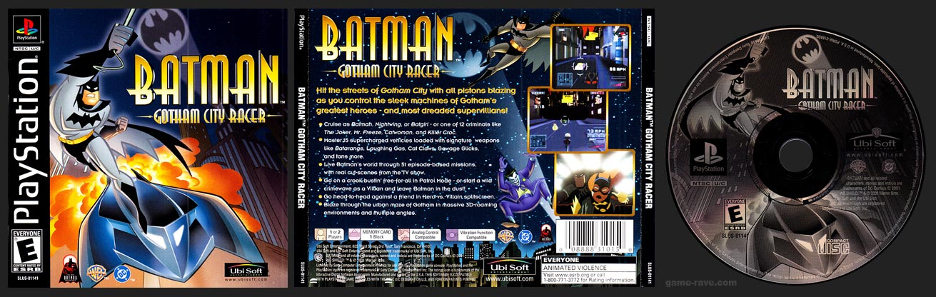 PSX PlayStation Batman Gotham City Racer Black Label Retail Release