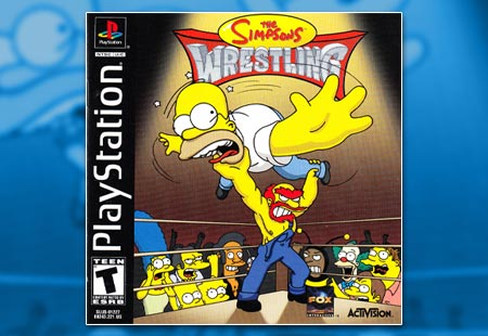 PSX Simpsons Wrestling 450x