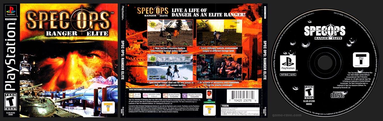 PSX PlayStation Spec Ops: Ranger Elite Black Label Retail Release