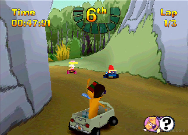 PSX PlayStation Nicktoons Racing Screenshots Screen Shot