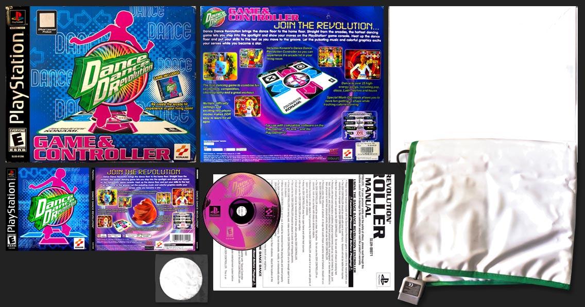 PSX PlayStation Dance Dance Revolution Bundle with Dance Pad Black Label Release