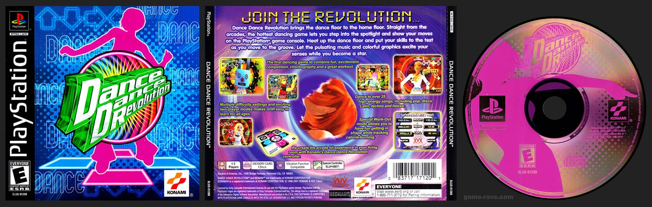 PSX PlayStation Dance Dance Revolution Stand Alone Black Label Retail Release