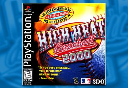 PSX PlayStation High Heat Baseball 2000