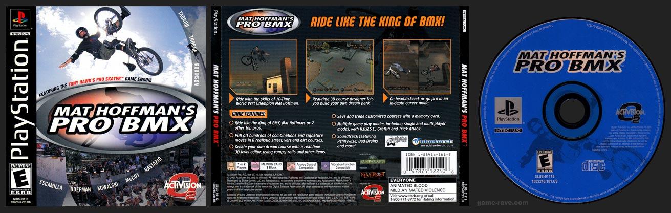 PSX PlayStation Mat Hoffman's Pro BMX Black Label Retail Release