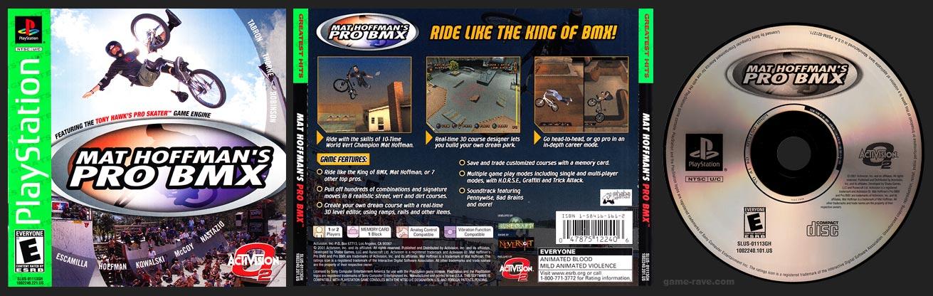PSX PlayStation Mat Hoffman's Pro BMX Greatest Hits Green Label