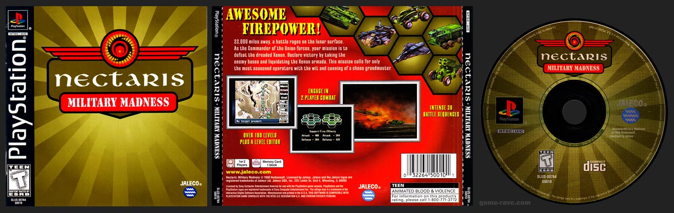 PSX PlayStation Nectaris -Military Madness Black Label Retail Release