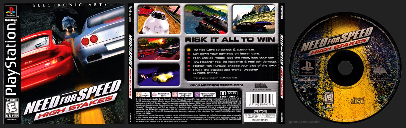 PSX PlayStation Need For Speed High Stakes Black Label Retail Release