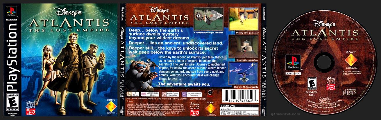 PSX PlayStation Disney Atlantis The Lost Empire