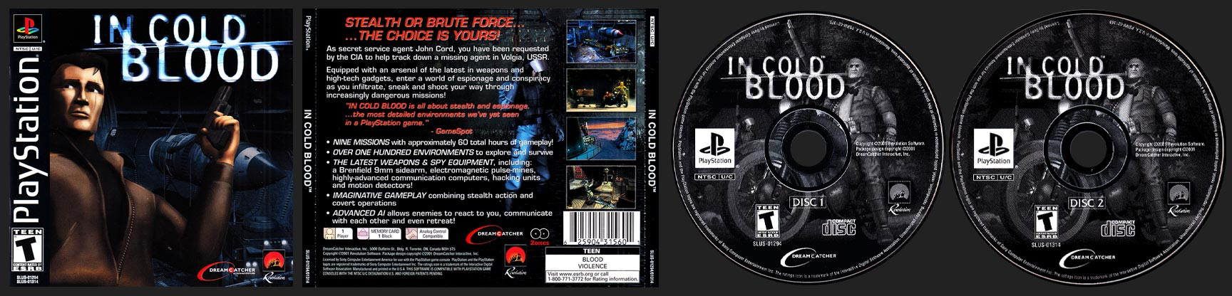 PSX PlayStation In Cold Blood Black Label Retail Release