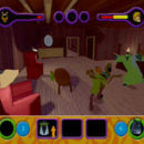 PSX PlayStation Scooby Doo Night of 100 Frights Prototype Level 3 Wolf Ends Lodge Screenshot (11)