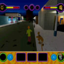 PSX PlayStation Scooby Doo Night of 100 Frights Prototype Level 5 Main Street Screenshot (1)
