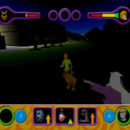 PSX PlayStation Scooby Doo Night of 100 Frights Prototype Level 5 Main Street Screenshot (7)