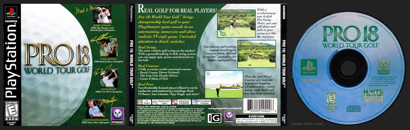 PSX PlayStation Pro 18 World Tour Golf