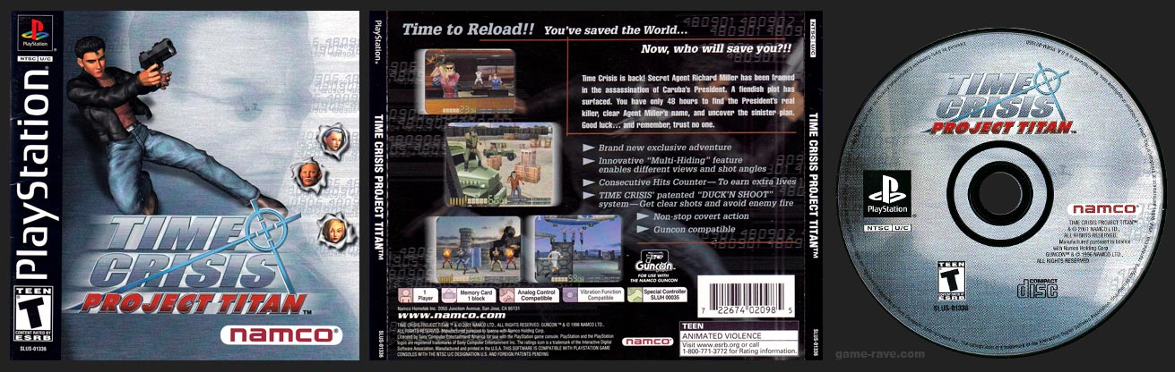 PSX PlayStation Time Crisis Project Titan Stand Alone release black label