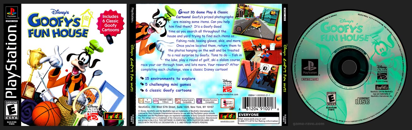 PSX PlayStation Disney's Goofy's Fun House Black Label Retail Release