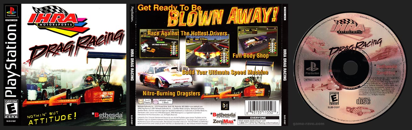 PSX PlayStation IHRA Motorsports Drag Racing