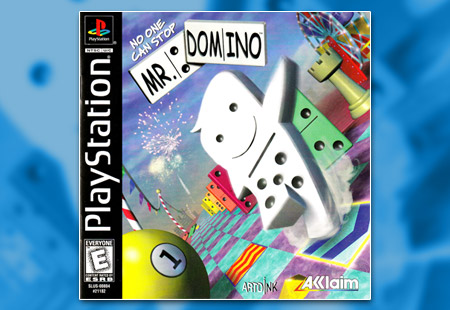 PSX PlayStation No One Can Stop Mr. Domino