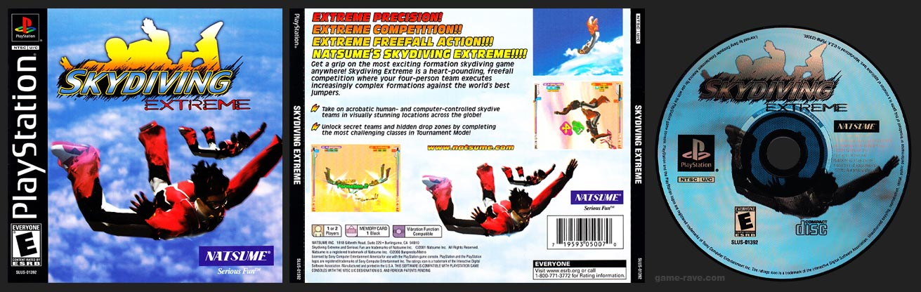 PSX PlayStation Skydiving Extreme Black Label Retail Release
