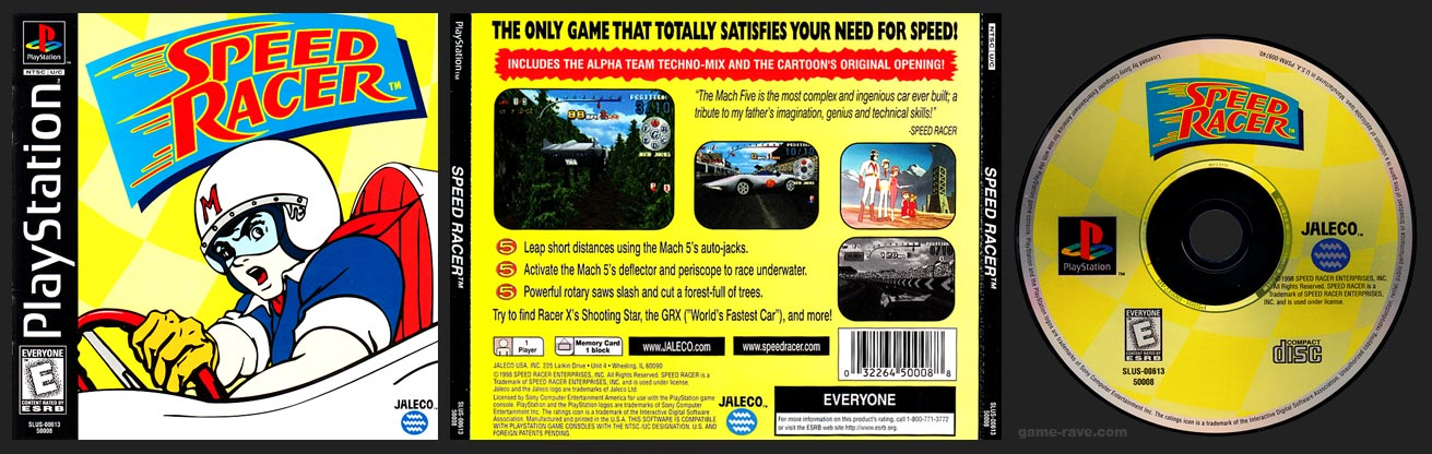 PSX PlayStation Speed Racer Black Label Retail Release