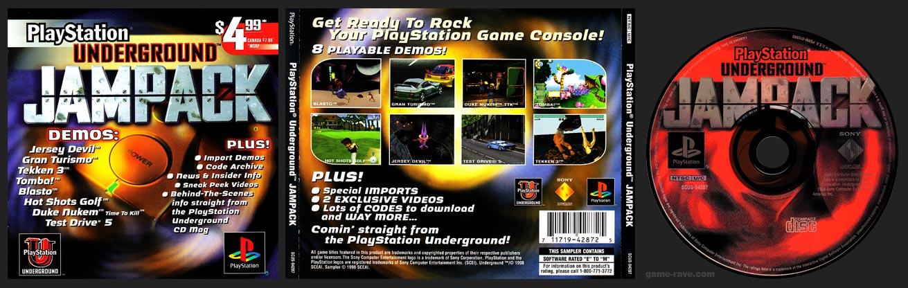 PSX PlayStation Underground Jampack Demo