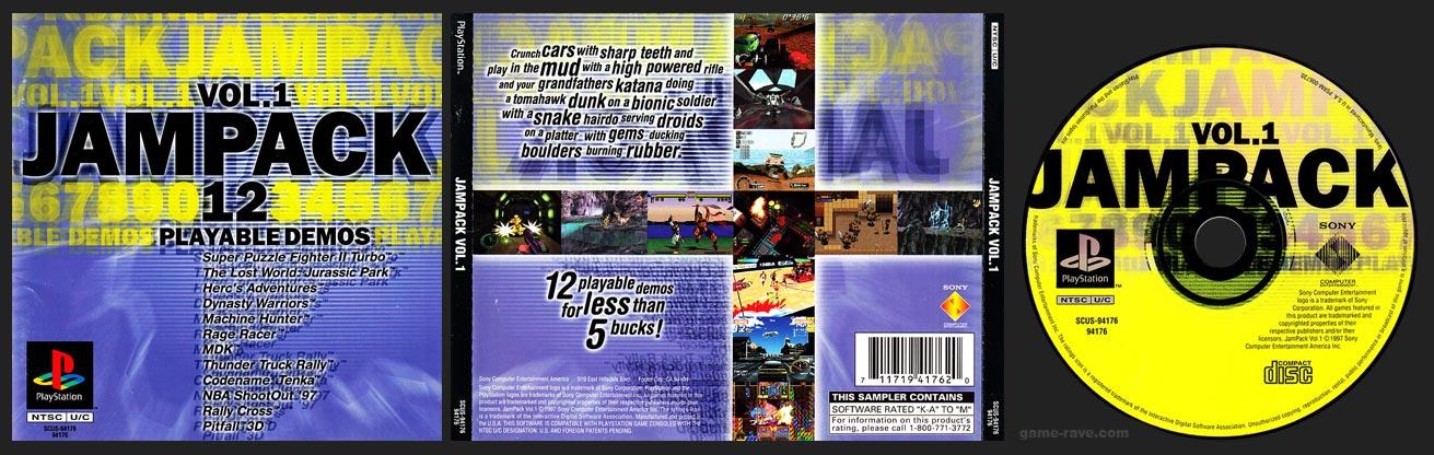 PSX PlayStation The Jampack Vol. 1 Demo Disc