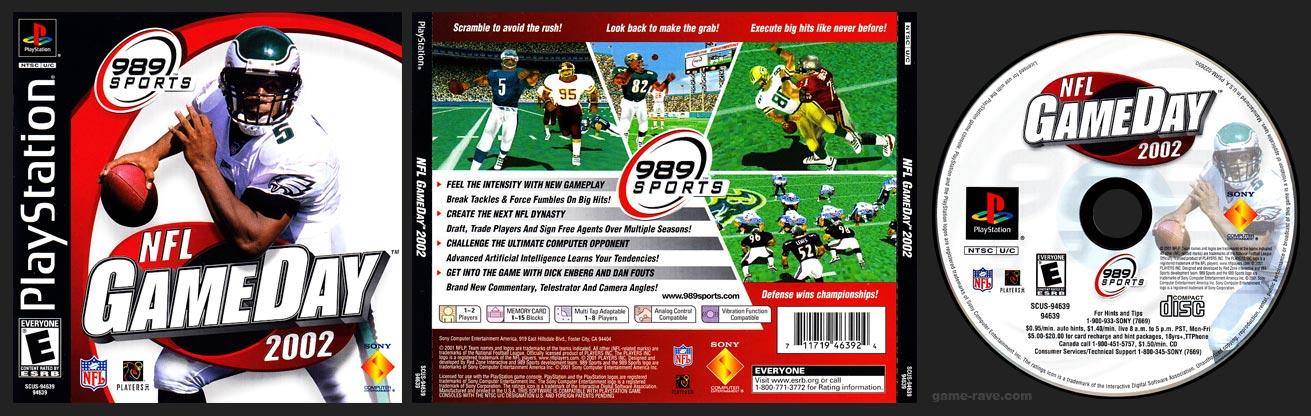 PSX PlayStation NFL GameDay 2002 Black Label Retail Release