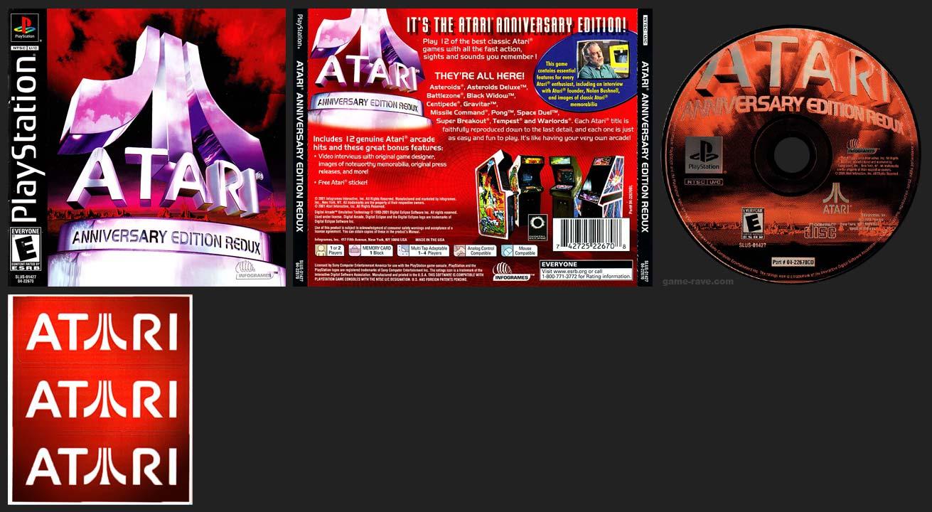 PSX PlayStation Atari Anniversary Edition Redux Red Sticker Variant