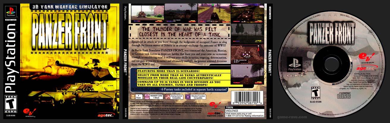 PSX PlayStation Panzer Front Black Label